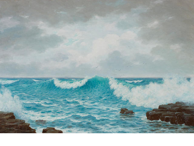 Jan Ernst Abraham Volschenk (South African, 1853-1936) Seascape