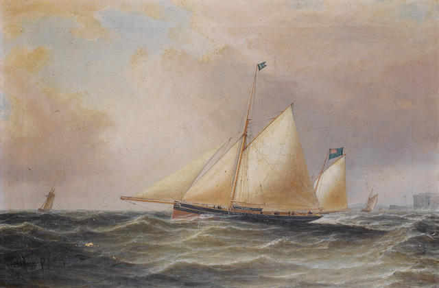 William Clark of Greenock (British, 1803-1883) The celebrated racing yawl Julia, R.Y.S.
