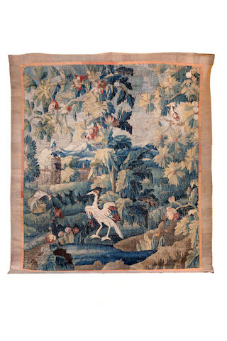 A Flemish late 17th/ early 18th century Verdure tapestry