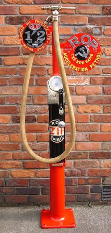 "A Vickers Armstrong Model ""C"" hand operated petrol pump 177cm high."
