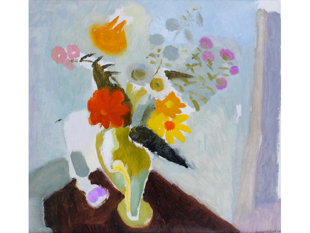 Ivon Hitchens (British, 1893-1979) Still life 56 x 61 cm. (22 x 24 in.)