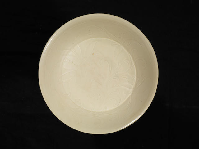 A Dingyao carved dish Northern Sony Dynasty