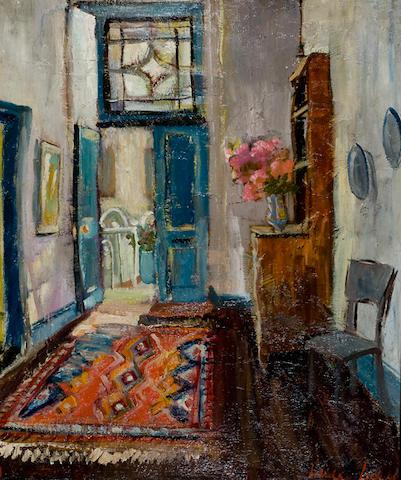 Freida Lock (South African, 1902-1962) Hall interior