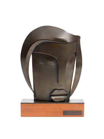 George Jaholkowski (Russian, 1914-1979) Face 26cm (10 1/4in) high