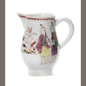 A Liverpool small jug possibly Pennington Circa 1780-85.