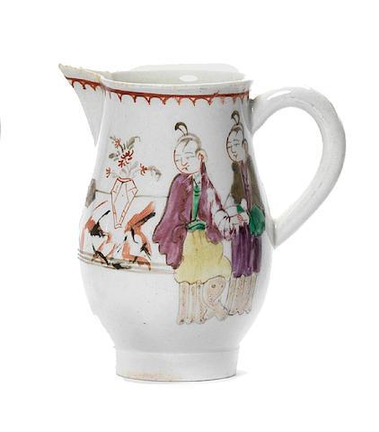 A Liverpool small jug possibly Pennington Circa 1780-85.