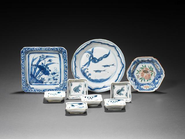 Six small blue and white dishes Tianqi/Chongzhen