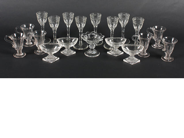A group of glass 19th Century.