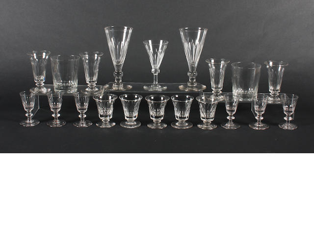 A part matched suite of glassware 19th Century.
