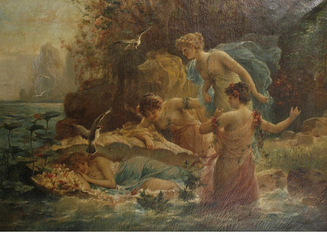 Hans Zatzka (Austrian, 1859-1949) The Birth of Venus