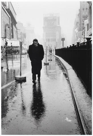 Dennis Stock (American, born 1928) James Dean, Times Square, 1955 58 x 38cm (22 13/16 x 14 15/16in).