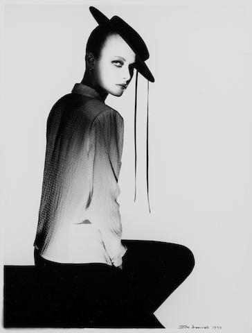 John Swannell (British, born 1946) Untitled (Model in Hat), 1979 Image 30.5 x 22.6cm (12 x 8 7/8in).