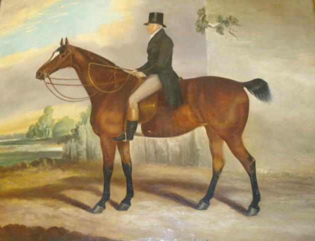 19th Century English school A gentleman on horseback