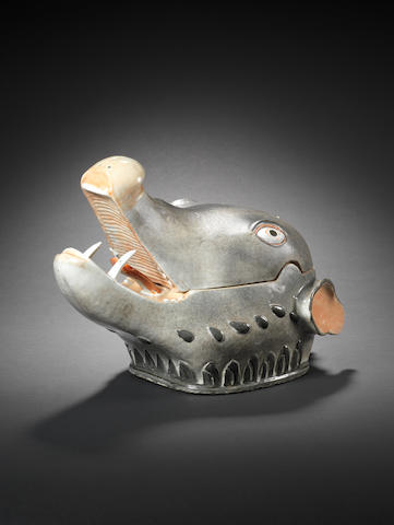 A boar tureen and cover