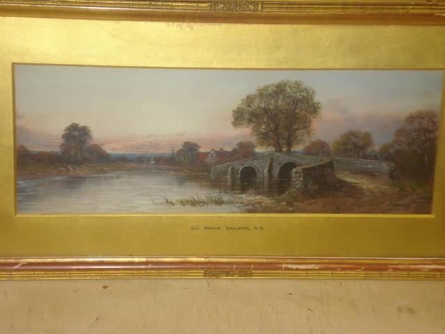 Aubrey Ramus (British) 'Old bridge, Ballater, N.B.'