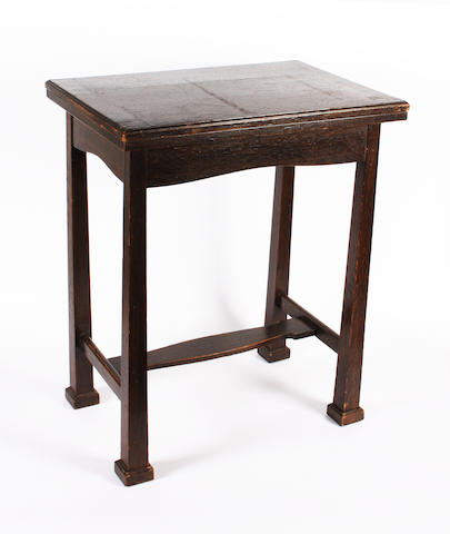 A Liberty & Co stained oak card or games table
