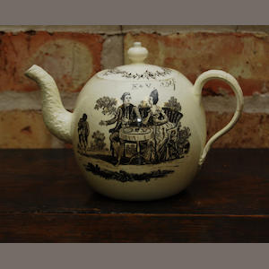 A Wedgwood creamware teapot and cover circa 1775