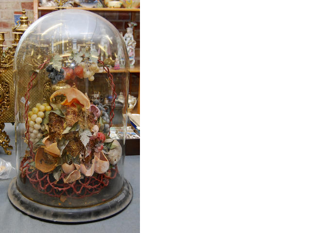 A Victorian wax display of fruit