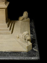 An important carved bathstone prototype 1:40 scale model of Nelson's column