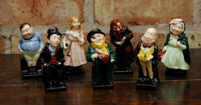 """A group of seven Royal Doulton """"Pickwick"""" figurines"""