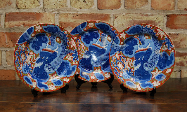 Three mid 19th century English Ironstone plates