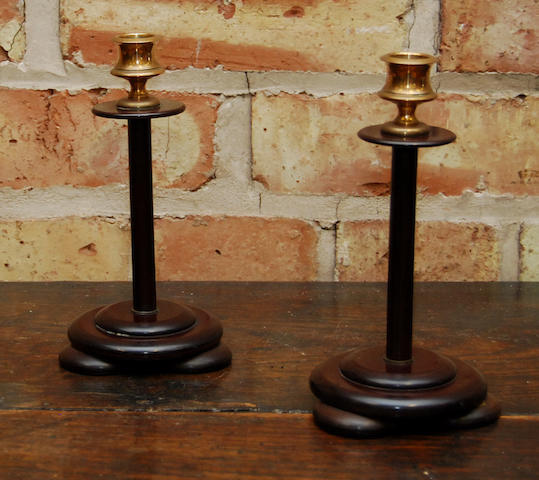 A pair of Bakelite candlesticks