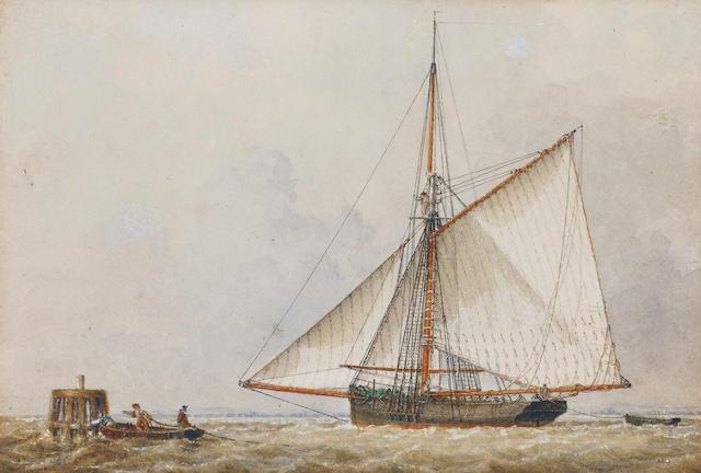 John Ward of Hull (British, 1798-1849) Fishing boat ???????????