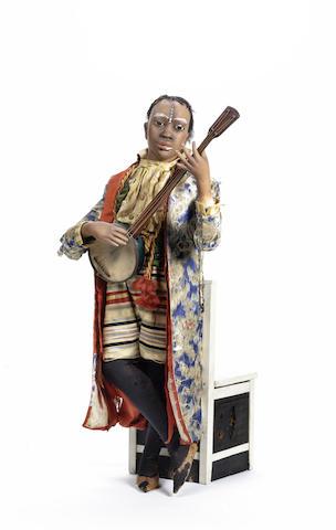 A rare 'Negro Banjo-Player' musical automaton, by G. Vichy, circa 1885,