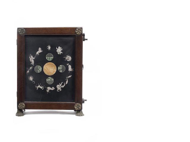 "An Elton's astronomical screen or ""Miniature Transparent Orrery"",  English,  circa 1817,"
