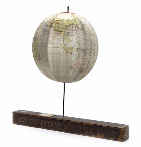 A Betts's Patent Portable Globe,  English,  circa 1860,