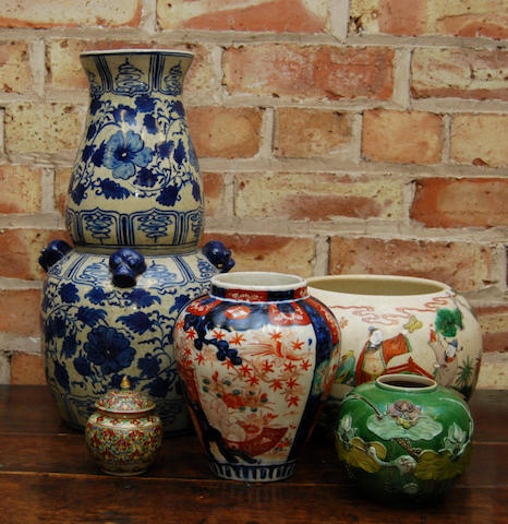 A group of Oriental vases