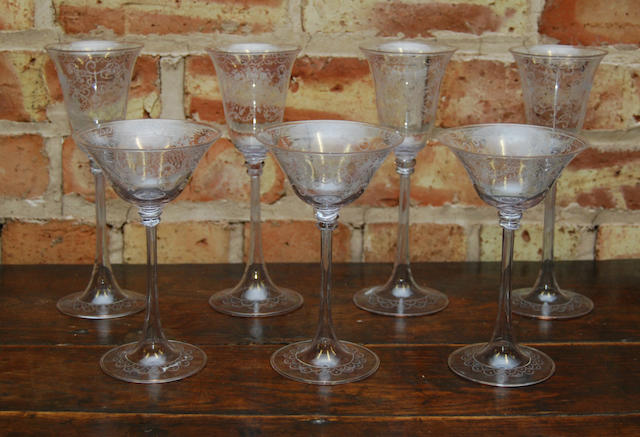 A collection of early 20th century glasses