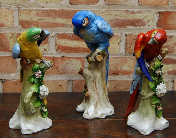 Two Sitzendorf bird figurines