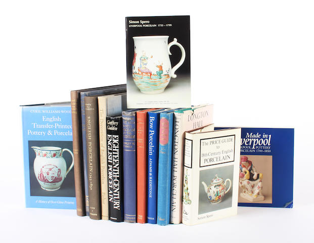 Fourteen reference books and catalogues on ceramics