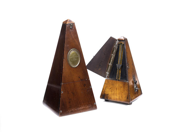 Maelzel's Prototype 12-inch metronome, one of the two-hundred patent models made in 1815,