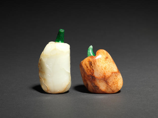 Two jade snuff bottles 18th/19th century