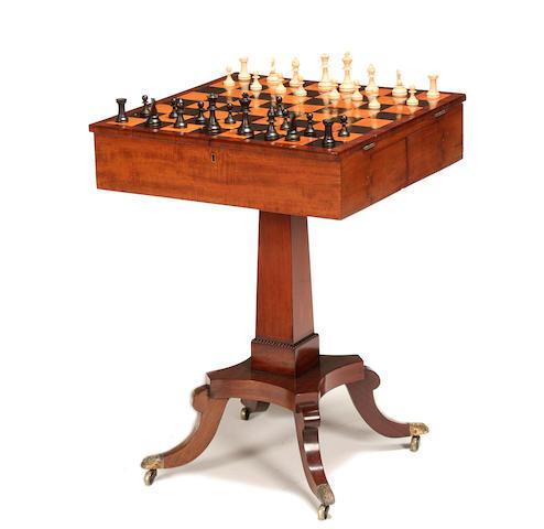 A Regency mahogany chess table