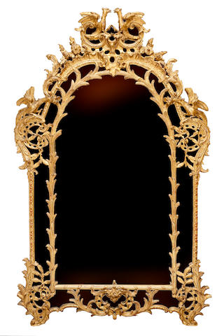 A French 19th century Louis XV style giltwood mirror