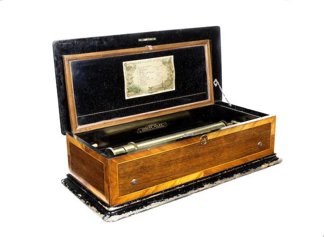 A good musical box playing twelve airs, by Ami Rivenc, circa 1889,