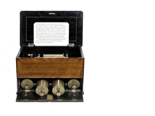An interchangeable two-per-turn musical box, by J. Billon-Haller, circa 1895,