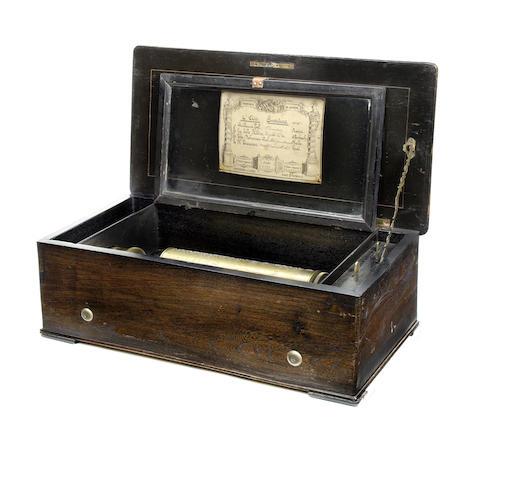 A Overture-Mandoline musical box, by François Conchon, circa 1877,