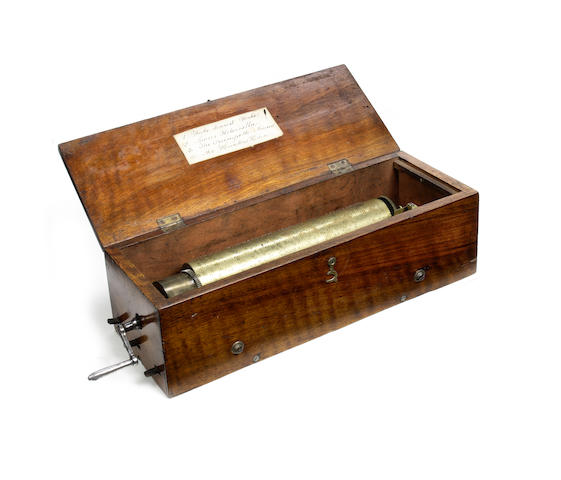 An early key-wind musical box, most probably by Lecoultre, circa 1826,