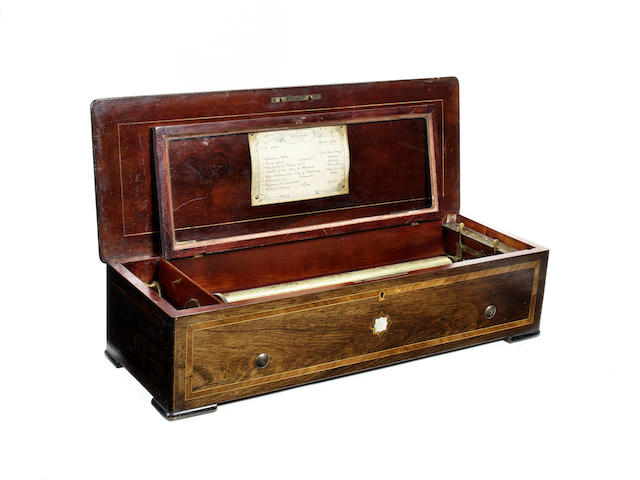 A piano-forte musical box, by Nicole Frerés, circa 1872,