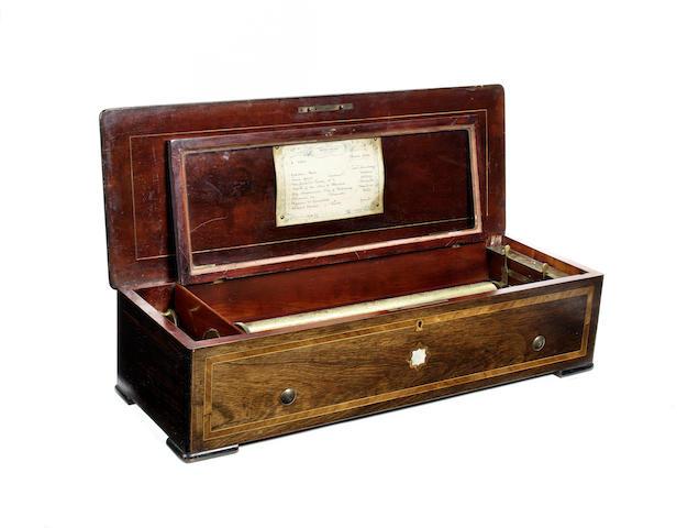 A piano-forte musical box, by Nicole Frerés, circa 1872,