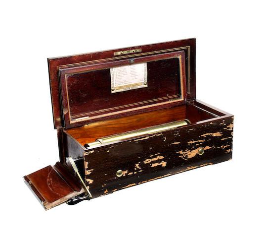 A key-wind two-per-turn musical box, by Nicole Frerés, circa 1861,
