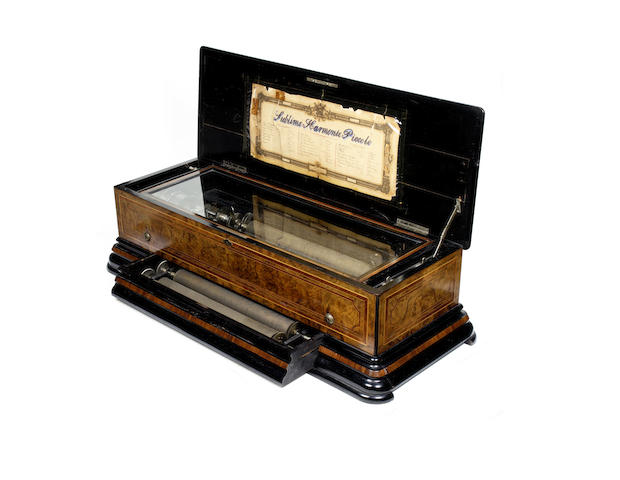 A large 'Sublime-Harmonie Piccolo' interchangeable musical box, by Paillard Vaucher et fils, circa 1884,