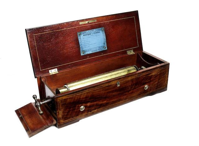 A good key-wind 'Tradesman's' hymn musical box, by Nicole Frerés,  circa 1859,