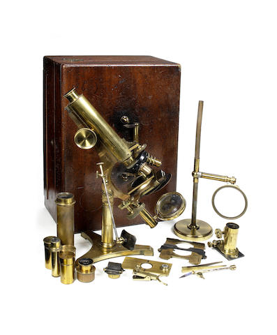 A Smith & Beck compound monocular microscope, English, mid 19th century,