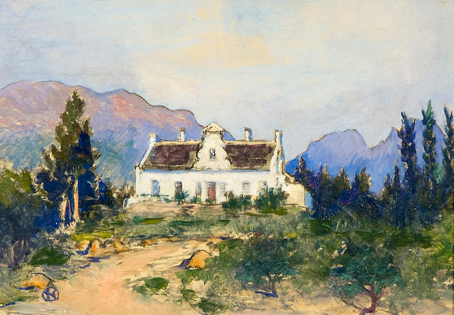 Nita (Pauline Augusta Wilhelmina) Spilhaus (South African, 1878-1967) Cape Dutch house