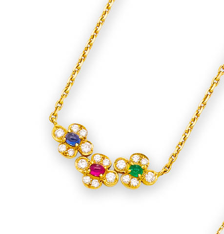 A gem-set necklace, by Van Cleef & Arpels